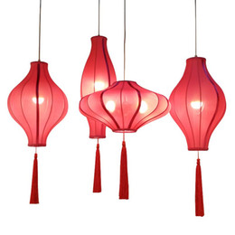 Chinese Ceiling lighting online shopping - Chinese Solid Pumpkin Restaurant Ceiling Pendant Light Balcony Corridor Study Room Hanging Lamp Coffee House Bedroom Pendant Lamps