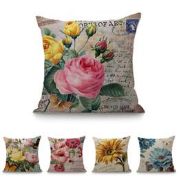 "$enCountryForm.capitalKeyWord UK - Square 18"" Sun Flower Peony Printed Cartoon Throw Cushion For Sofa Car Home Decor Living Room Decorative Pillows 45x45 cm"