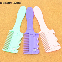 new hair cutting men Canada - Meisha New Design Barber Hair Razor with 10pc Blades Salon Grooming Hair Cutting Shaver Brush Removal Hair Beauty Tools for Men Body HC0002
