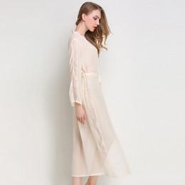dd4d08542a469 Sexy Clairvoyant Chiffon Women Nightwear Wedding Bridesmaid Robes Lace  Temptation Female Long Bathrobes Nightgown Sleepwear