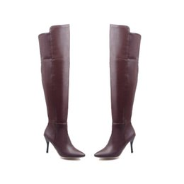 e940c66e7d6 Favofans Hot Sale Womens Over The Knee Thigh High Stiletto Heel Ladies Calf  Leg Knee High Boots Size FF-B967 US Size 4-10.5