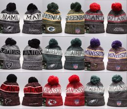 871ad6b0c 2018 New Arrival Beanies Hats American Football 32 teams Beanies Sports  winter side line knit caps Beanie Knitted Hats drop shippping