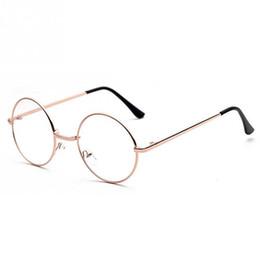 Estilo Vintage Mulheres   Homens Populares Rodada de Metal Lente Clara  Óculos de Armação Na Moda Unisex Nerd Óculos Anti-radiação Óculos Quadro b6c1403451