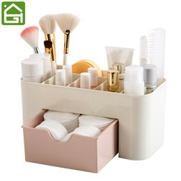 $enCountryForm.capitalKeyWord Australia - Cosmetic Jewelry Organizer Office Storage Drawer Desk Makeup Case Plastic Makeup Brush Box Lipstick Remote Control Holder