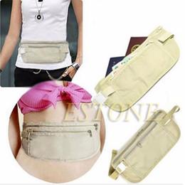 PassPort tyPes online shopping - Cloth Travel Pouch Hidden Wallet Passport Money Waist Belt Bag Slim Secret Security Useful Travel Storage Bag