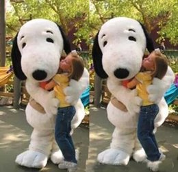 Wholesale adult dog fancy dress online – ideas 2019 High quality new EPE Adult Size Snoopy Dog Mascot Costume Halloween Chirastmas Party Fancy Dress