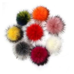 Shoe Chain Accessories UK - 12 pcs  lot Diy Big Colorful Pompom Faux Ball for Women Bag Pendent Shoes Phone Key Chains Pom pom Ball Accessories