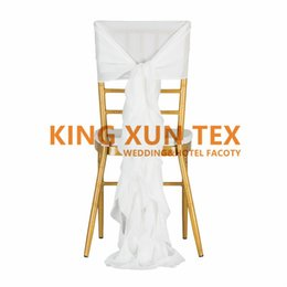 Wedding Chairs For Sale Wholesale Australia - 50PCS Sale Chiffon Chiavari Chair Cover With Wickle Chair Sash For Wedding Event Decoration