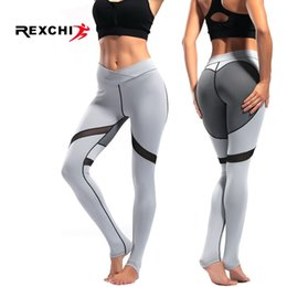 patterned yoga pants 2019 - REXCHI High Waist Yoga Pants Women Foot Tights Love Pattern Sports Seamless Legging Gym Fitness Female Sportwear Super S