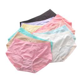 6d7e17a6d5 300PCS LOT New Women Sexy Seamless Underwear Breathable Mid-Rise Soft Panty  Ice Silk Panties Lip Print Ladies Briefs