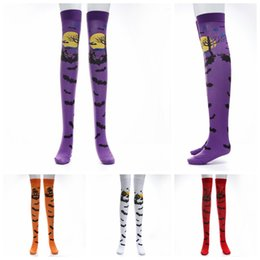 halloween bat socks masquerade lovely over the knee dress up high cosplay bat pattern stockings socks halloween supplies 300pairs ooa5396 halloween knee