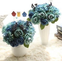 Orange phOtOgraphy online shopping - Bouquet Wedding Decorative Flowers Colorful Bridal Bouquet Artificial Wedding Bouquets Wedding Photo Photography Props