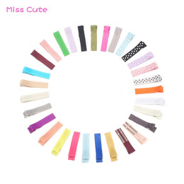 Baby Satin Hair Clips Australia - 30 PCS Lot Mix Colors Baby Hair Clips Double Prong Alligator Clip Satin Grosgrain Ribbon Hair Pin for Bow DIY Accessories
