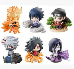 $enCountryForm.capitalKeyWord NZ - 6pcs set Naruto Figurine Doll Japanese Anime PVC Collectible Gaara Uzumaki Kakashi Set Action Figures Model Kids Toys
