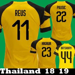 e7867c57f Thailand 2018 2019 REUS Borussia Dortmund Yarmolenko PULISIC GOTZE BATSHUAYI  Soccer Jerseys 18 19 SANCHO Philipp GUNDOGAN Football Shirts borussia soccer  .