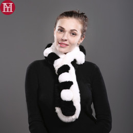 Real Rex Rabbit Fur Scarves NZ - 2017 Women Real Rex Rabbit Fur Scarf 100% Rex Rabbit Fur Worm And Soft Neckerchief Fashion Scarves Wholesale Retail
