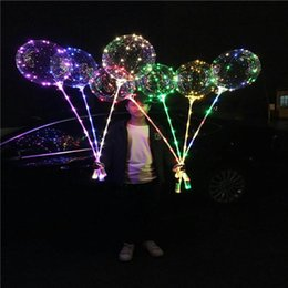 Wholesale New bobo ball wave led line string balloon light with battery for Christmas Halloween Wedding Party home Decoration Circular