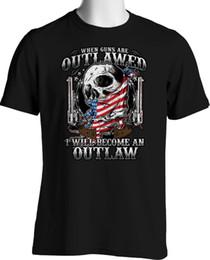 Men T Shirt Gun Australia - Firearms T Shirts 2Nd Amendment Outlaw Guns Shoot Constitution Small To 6X Tall T-shirt Men Boy Best Design Short Sleeve Thanksgiving Day Cu