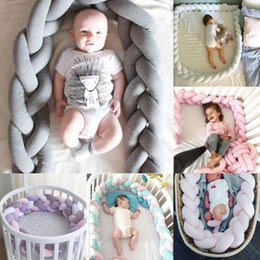 Discount browning baby bedding - Lovely Baby Soft Knot Pillow Braided Crib Bumper Decorative Bedding Cushion decor