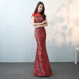 $enCountryForm.capitalKeyWord Australia - New Arrival Women Chinese Traditional Dress for Wedding Bride Dress Lady Long Cheongsam Ancient Qipao for Party 89