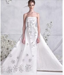 Drop Waist Lace Wedding Dresses Straps Australia - 2018Gowns feature nipped in waists, majestic floor sweeping skirts, and off-the-shoulder necklines that highlight the decolletage elegantly4