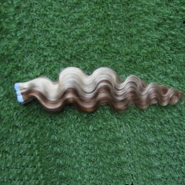 Discount piano tape hair extensions - Tape In Hair Extensions Nordic Color 100% Remy Human Hair P8 613 Color 100G 40Pcs Body Wave Brazilian Tape In Hair