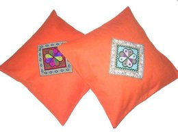 $enCountryForm.capitalKeyWord NZ - Unique 100% Handsewn Tribal Embroidery Sofa Couch Cushion Pillow Cover #204I Pair