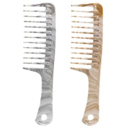 Long Fine Hair NZ - 2 Colors Available Wide Teeth Hair Comb Plastic Strong Long Hair Styling Comb Anti Static Hair Salon Comb In Thick Hard Design