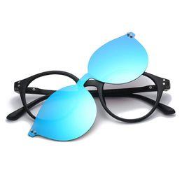 eeb655e76ce Polarized Magnetic Clips Sunglasses Women Men Brand Mirror Night Vision  Flat Lens TR90 Frame UV400 Shades oculos de sol feminino