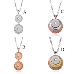$enCountryForm.capitalKeyWord NZ - New NOOSA Silver Gold Metal Snap Button Necklaces DIY 18mm Snap Buttons Jewelry Bohemia HOPE LOVE Long Chain Necklace for Women Girls Gift