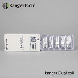 $enCountryForm.capitalKeyWord Australia - 30pcs lot Original Kanger dual coils for Aero Evod Mega Protank 3 EMOW Genitank atomizer 1.0ohm 1.2 coil Kangertech E-cigarette