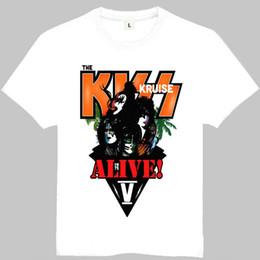 008d2413cc09 Kiss Band T Shirts Canada - Kiss time t shirt Gene Simmons short sleeve  gown Rock