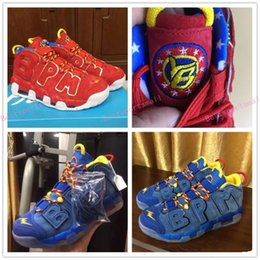 a9e288800e7 2018 Scottie Pippen Lightning Doernbecher DB BPM Blue Red Basketball Shoes  for AAA+ quality Airs Mores Uptempo QS Sports Sneakers Size 40-46