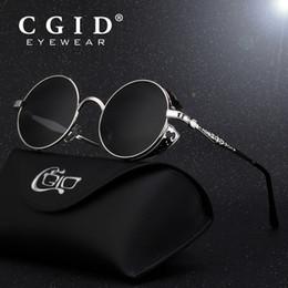 d64a3ec023 CGID Polarized Steampunk Sunglasses Round Metal Sun Glass Brand Designer  Retro Vintage Glasses UV400 for Men   Women E71 C18110601