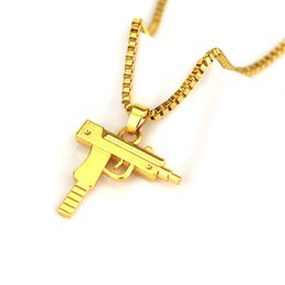 White gold gun pendant australia new featured white gold gun hip hop gun pendant necklace gold silver black american style punk rock jewelry men women pendant necklace aloadofball Image collections