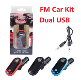 flash drive kit 2019 - FM Transmitter Double Dual USB Charger Bluetooth Car Kit FM Radio Car Bluetooth Adapter Support TF Card USB Flash Drive
