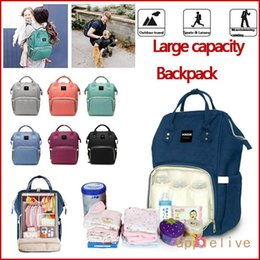Plain Diapers NZ - HaloVa Diaper Bag Multi-Function Waterproof Travel Backpack Nappy Bags for Baby Care, Large Capacity, Stylish and Durable, Gray