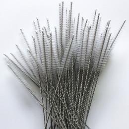 Tubos Limpadores de nylon Cleaners palha escova de limpeza para cachimbo Hábito de beber de aço inoxidável tubo de aspirador de 17,5 cm x 4 cm x 6 milímetros em Promoção