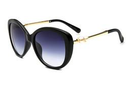 Pearl eyewear online shopping - 2018 New pearl big frame sunglasses C brand with logo fashion designer luxury women sun glasses driving shpping eyewear