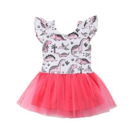 $enCountryForm.capitalKeyWord UK - Baby Girls Dresses 2018 New Infant Toddler Baby Girls Summer Dinosaur Lace Tutu Dress Birthday Princess Party Pageant Dresses Baby Clothes