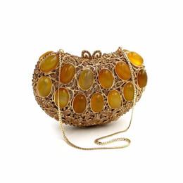 Discount handbag dinner party - BL034 Luxury diamante evening bags colorful clutch bags women party purse dinner crystal handbags gemstone wedding