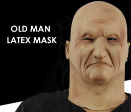 Discount christmas costumes men - Old Man Latex Mask Old Man Party Mask Male Disguise Latex Fancy Costumes Head Rubber Adult Masks Masquerade Cosplay Prop