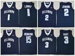 3cc9058266c NCAA Villanova Wildcats 15 Ryan Arcidiacono 1 Kyle Lowry 2 Kris Jenkins 3  Josh Hart Stitched College Basketball Jersey