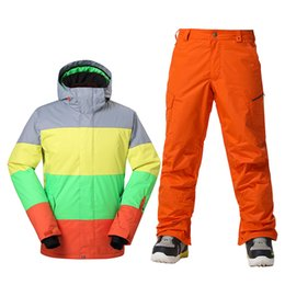 ac5d2b1e25 Ski Suit Brands Canada - GSOU SNOW Brand Winter Ski Suit Men Ski Jacket  Pants Waterproof