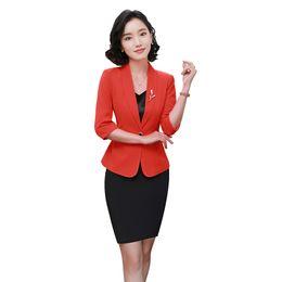 bb91f648cab1 two piece set top and skirt women summer pencil skirt plus size elegant blazer  office skirt suits for women office dress set