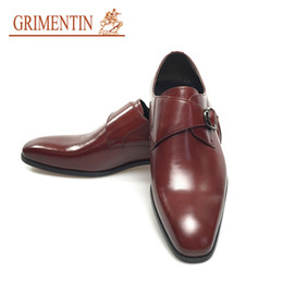 hot formal shoes NZ - GRIMENTIN Italian fashion brown formal men dress shoes hot sale men oxford shoes 100% genuine leather business wedding mens shoes YJ