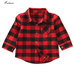 $enCountryForm.capitalKeyWord UK - New Style in Autumn 2018 Cute Baby Kids Boys Girls Long Sleeve Shirt Plaids Checks Tops Blouse Out Wear Jackets Clothes