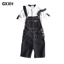 $enCountryForm.capitalKeyWord Australia - 2018 New Fashion Casual Slim Black Denim Overalls Men Cargo Pants Male Jeans Jumpsuits Summer Sexy Short Denim Trousers Size 5XL