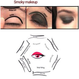 Makeup 6 In 1 Eyeliner Stencil Kit Model For Eyebrows Cat Fish Tail Double Wing Stencils