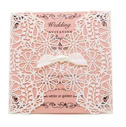 $enCountryForm.capitalKeyWord UK - New Cheap Laser Cut Wedding Invitations White Paper Black Wedding Invitation Card Flowers Hollow Wedding Cards
